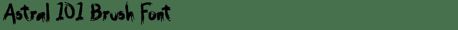 Astral 101 Brush Font