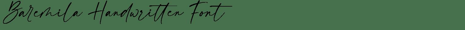 Baremila Handwritten Font
