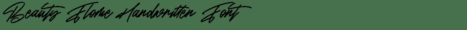 Beauty Flome Handwritten Font