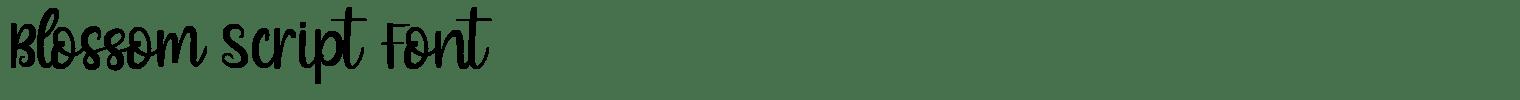 Blossom Script Font