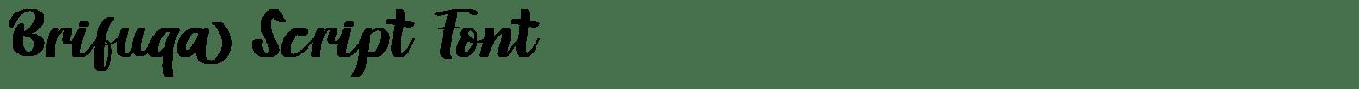 Brifuqa Script Font