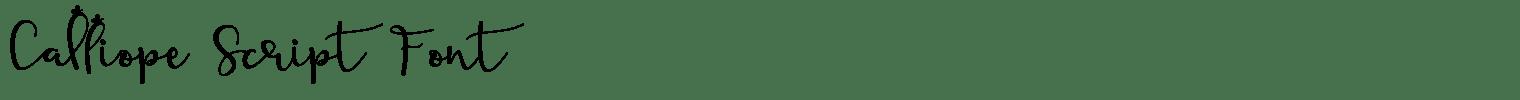 Calliope Script Font