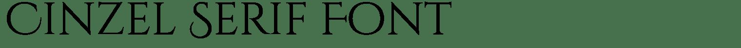 Cinzel Serif Font