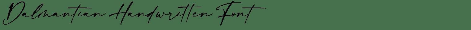 Dalmantian Handwritten Font