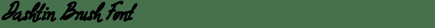 Dashtin Brush Font