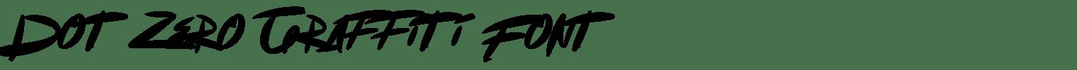Dot Zero Graffiti Font
