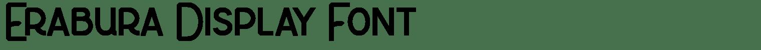 Erabura Display Font