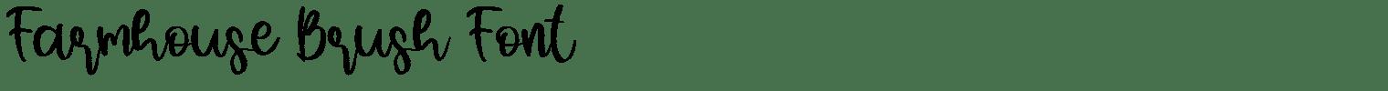Farmhouse Brush Font