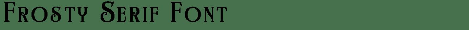 Frosty Serif Font