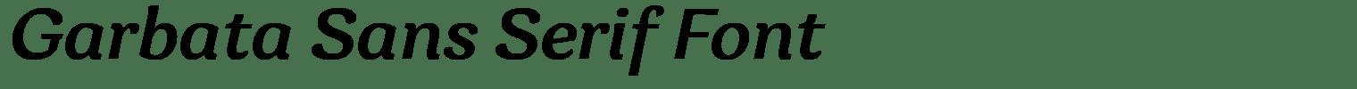Garbata Sans Serif Font