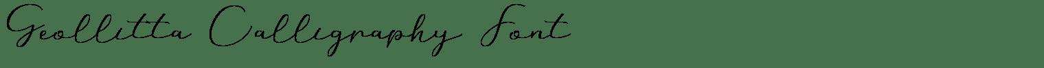 Geollitta Calligraphy Font
