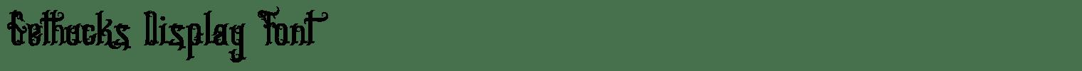 Gethucks Display Font