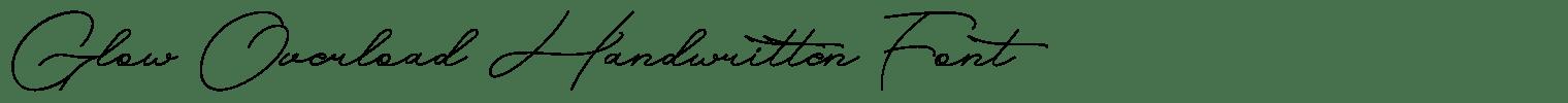 Glow Overload Handwritten Font