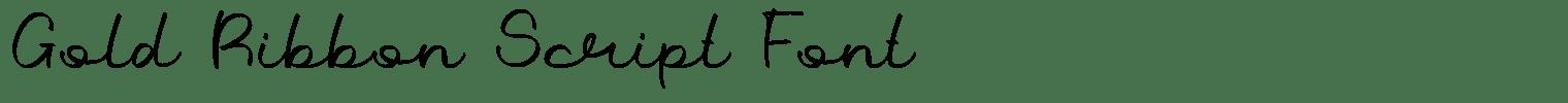 Gold Ribbon Script Font