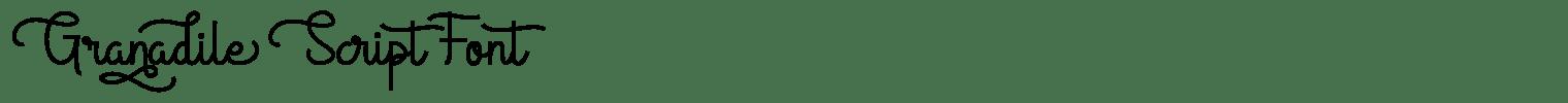 Granadile Script Font