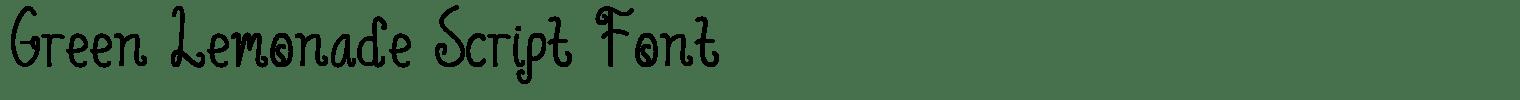Green Lemonade Script Font