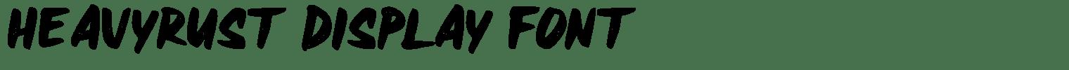 Heavyrust Display Font