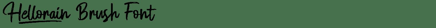 Hellorain Brush Font