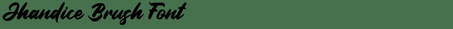 Jhandice Brush Font