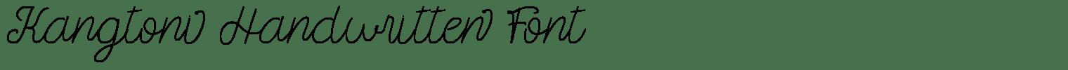Kangtoni Handwritten Font