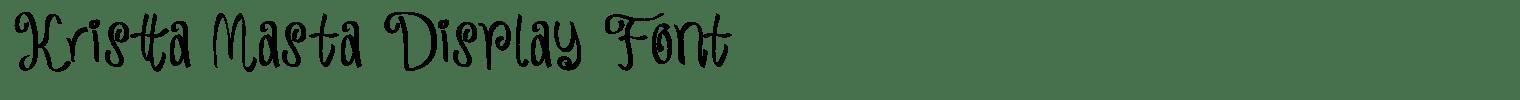 Kristta Masta Display Font