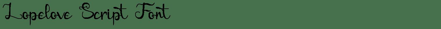 Lopelove Script Font