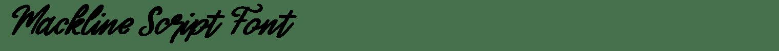 Mackline Script Font