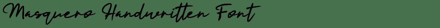 Masquero Handwritten Font