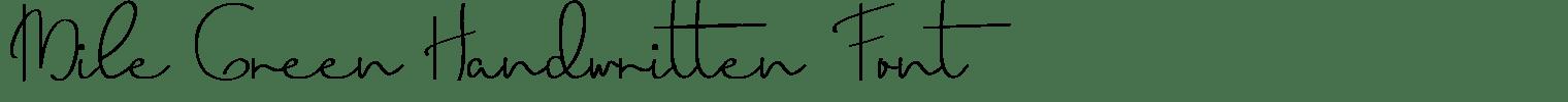 Mile Green Handwritten Font
