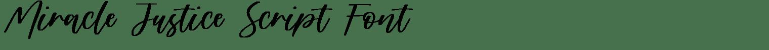 Miracle Justice Script Font