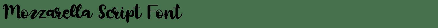 Mozzarella Script Font