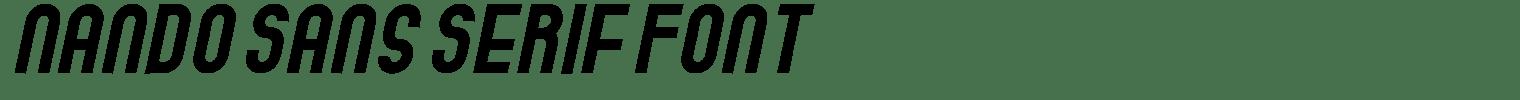 Nando Sans Serif Font