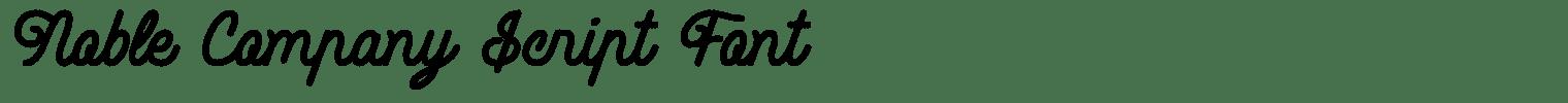 Noble Company Script Font
