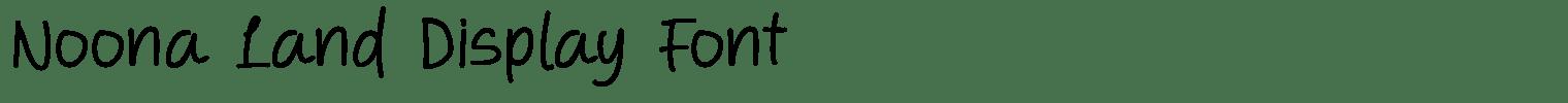 Noona Land Display Font