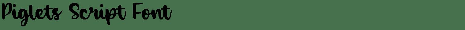 Piglets Script Font