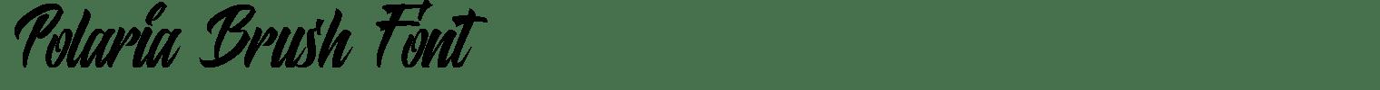 Polaria Brush Font