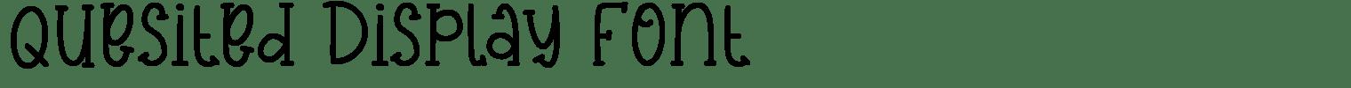 Quesited Display Font