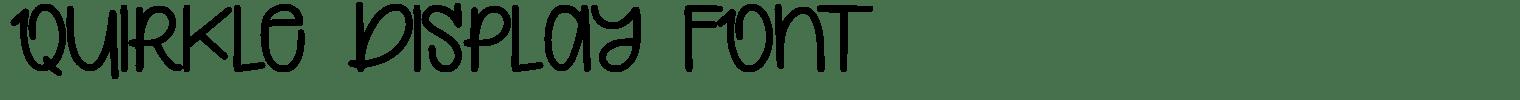 Quirkle Display Font