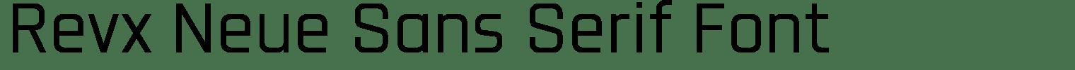 Revx Neue Sans Serif Font