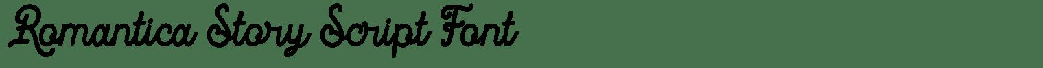 Romantica Story Script Font