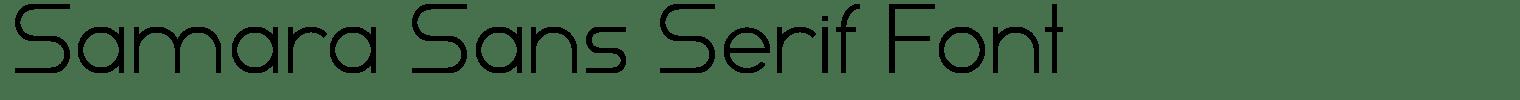 Samara Sans Serif Font