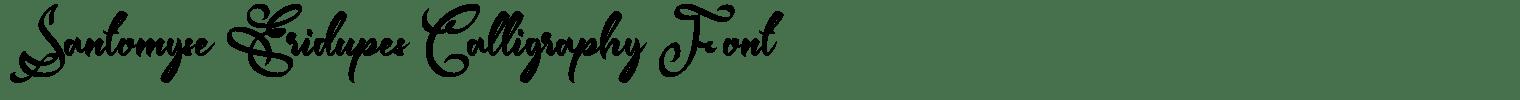 Santomyse Eridupes Calligraphy Font