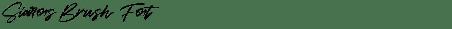 Siarons Brush Font