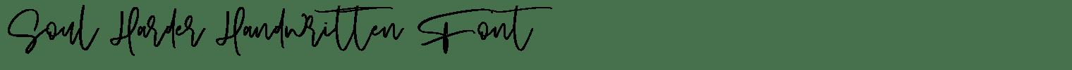 Soul Harder Handwritten Font