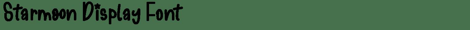 Starmoon Display Font