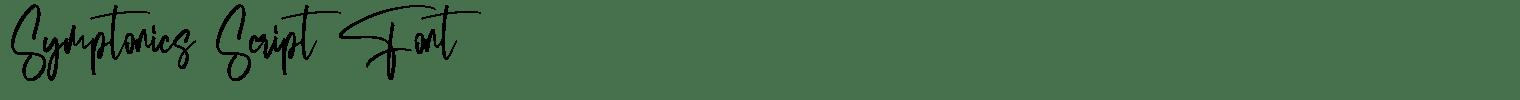 Symptonics Script Font
