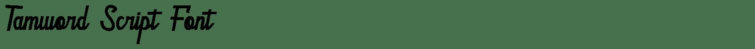 Tamword Script Font