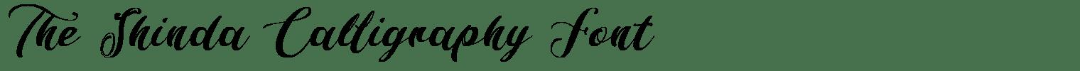The Shinda Calligraphy Font