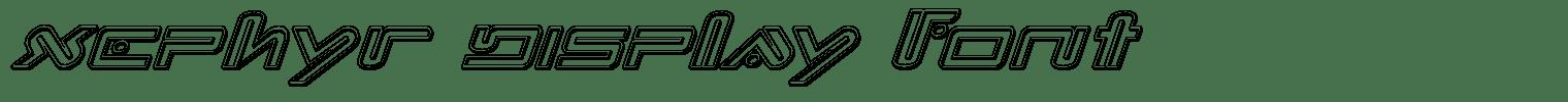 Xephyr Display Font