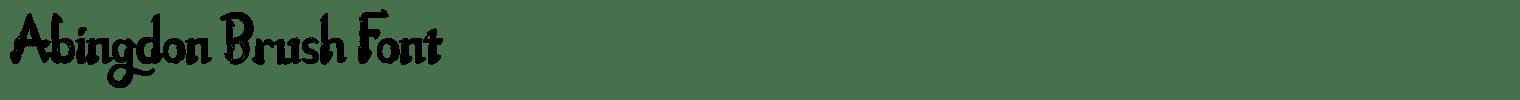 Abingdon Brush Font